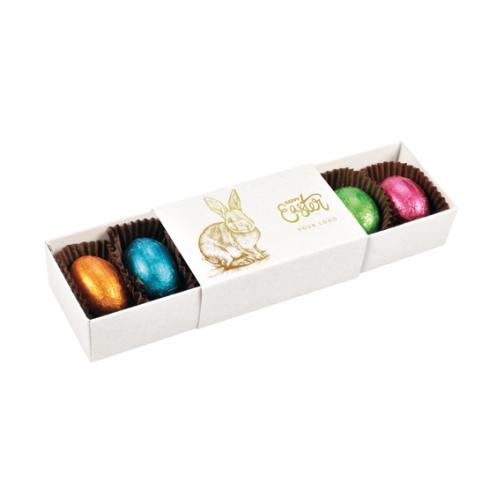 Великденска бонбониера с шоколадови яйца
