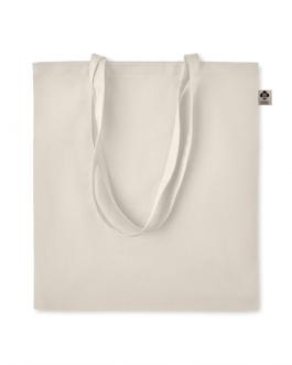 Пазарска чанта от органичен памук-натурален цвят