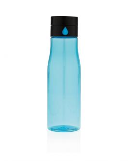 Бутилка проследява хидратацията на тялото-син цвят