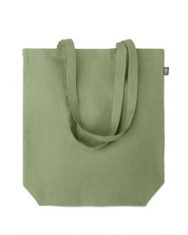 Цветна чанта от коноп-зелен цвят