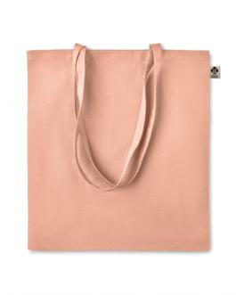 Чанта от органичен памук с дълги дръжки-оранжев цвят