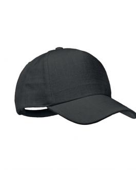Рекламна черна шапка от коноп