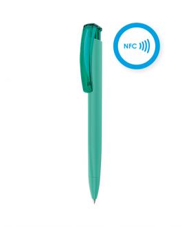 Химикалка с NFC TAG Софт -петрол цвят