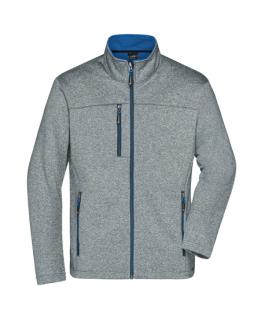 Мъжко яке софтшел меланж -сив/син цвят