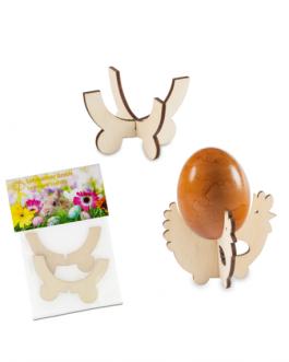 Сглобяема дървена поставка за яйце
