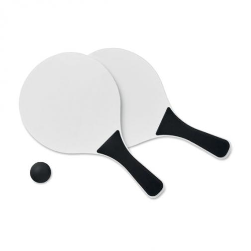 Рекламен комплект за плажен тенис-черен цвят