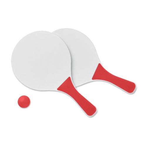 Рекламен комплект за плажен тенис-червен цвят