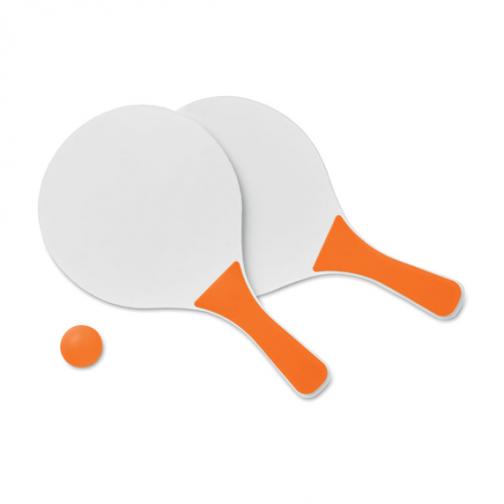 Рекламен комплект за плажен тенис-оранжев цвят