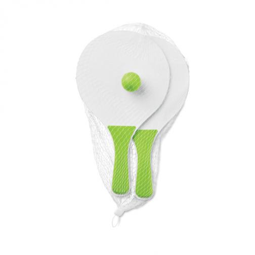 Рекламен комплект за плажен тенис-зелен цвят