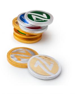 Рекламни шоколадови монети