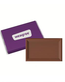 Корпоративно рекламно шоколадче-10 гр.