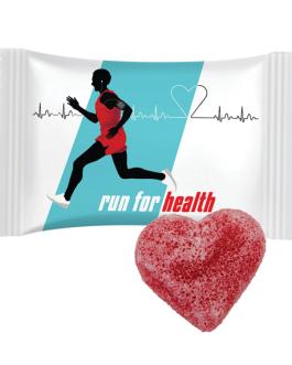 Рекламно пакетче с желирана бонбонка Сърце